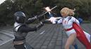Burning Action Super Heroine Chronicles 33 White Super Woman Power Angel020